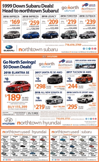999 Down Subaru Deals Head To Northtown Subaru Northtown Hyundai