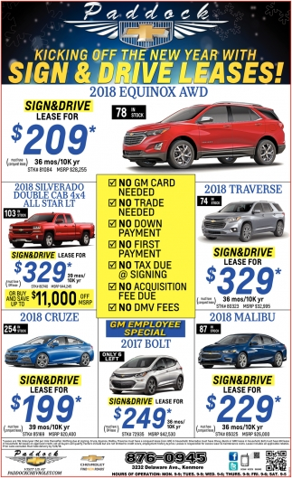 Kicking Off The New Year With Sign And Drive Leases
