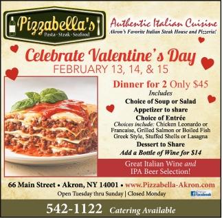 Celebrate Valentines Day Pizzabella S Akron Ny