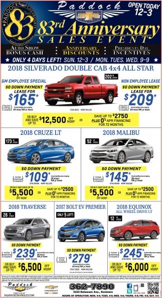 Sales Event, Paddock Chevrolet, Buffalo, NY