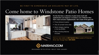 Come Home To Windstone Patio Homes Marrano Com West Seneca Ny
