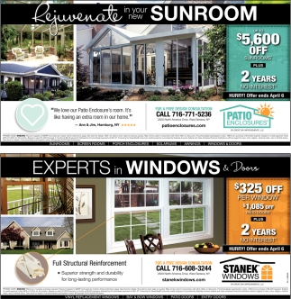 Experts In Windows And Doors Stanek Windows West Seneca Ny