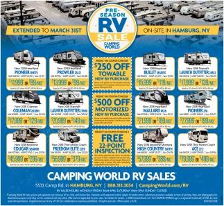 Pre-season RV Sale