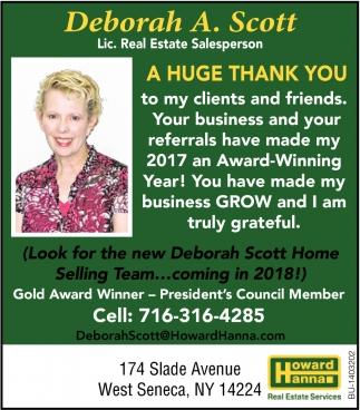 Deborah A. Scott