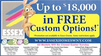 Up to $18,000 in Free Custom Options!