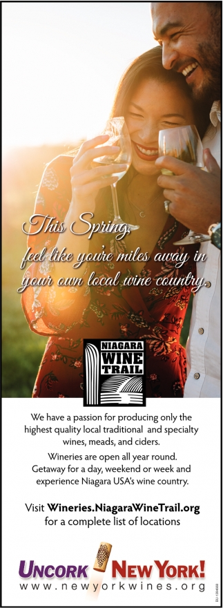 This Spring Feel like you're miles away in your own local wine country