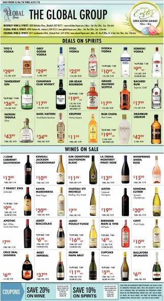 Deals on Spirits
