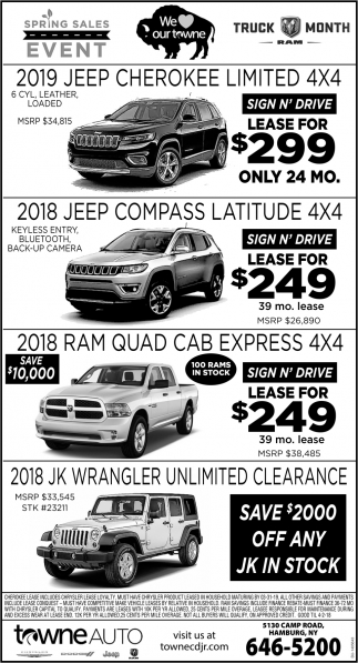 Spring Sales Event