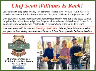 Chef Scott Williams Is Back!