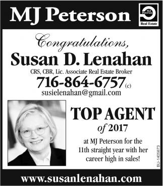 Congratulations Susan D. Lenahan