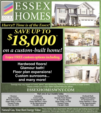 Up to $18,000 on a Custom-Built Home!