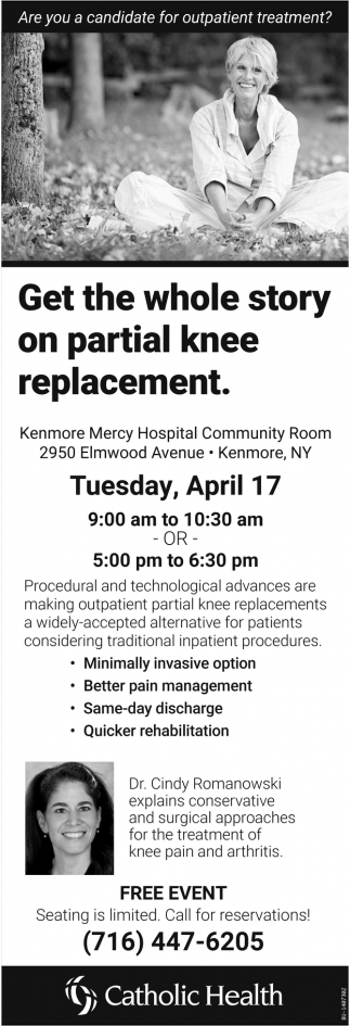 Get the whole story on partial knee replacement.