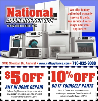 Factory-authorized Warranty Service and Parts