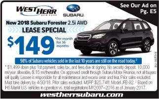 West Herr Subaru >> New 2018 Subaru Forester West Herr Orchard Park Ny
