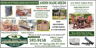 Indoor And Outdoor Amish Made Furniture Concord Village Springville Ny