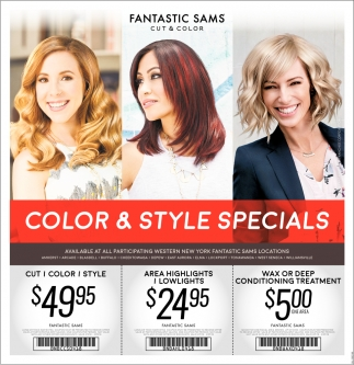 Color And Style Specials Fantastic Sams Cut And Color Buffalo Ny