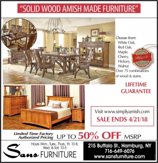 Solid Wood Amish Made Furniture