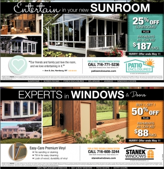 Entertain in your new Sunroom