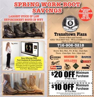 Spring Work Boot Savings