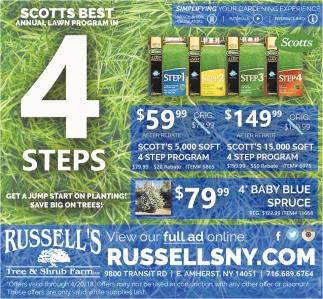 Scotts Best Annual Lawn Program