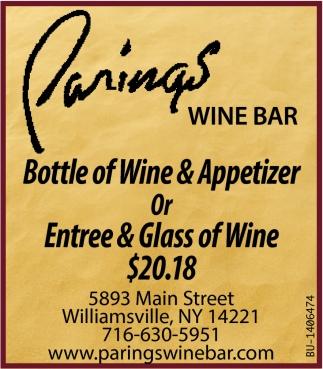 Bottle of Wine & Appetizer