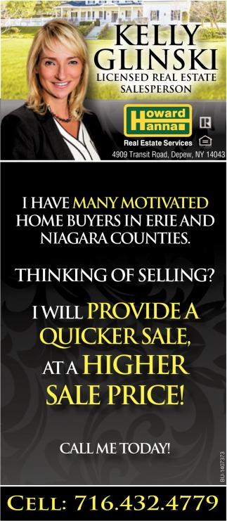 Licensed Real Estate Salesperson.