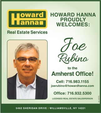 Proudly Welcomes: Joe Rubino