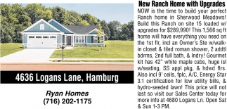 New Ranch Home With Upgrades