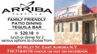 Family Friendly Patio Dining Tequila Bar