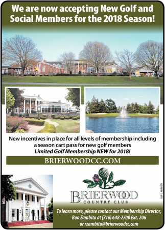 We Are Now Accepting New Golf And Social Members For The 2018 Season!