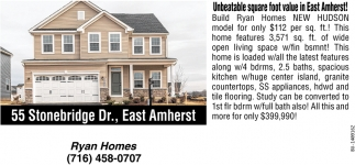 Unbeatable Square Foot Value In East Amherst