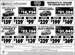 Buffalo's #1 Volume VW Dealer for 2017!