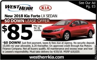 New 2018 Kia Forte LX SEDAN