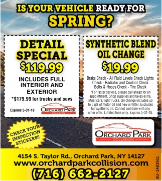 Is Your Vehicle Ready For Spring?