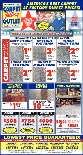 Americas Best Carpet At Factory Direct Prices 8358000 Outlet Buffalo Ny