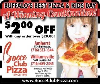 Buffalo's Best Pizza & Kids Day