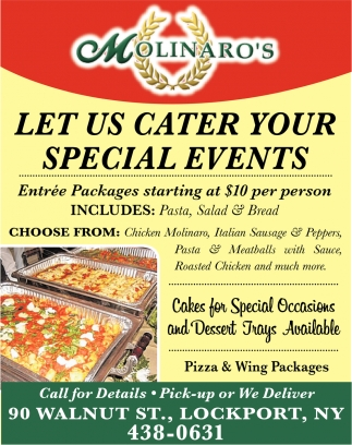Let Us Cater Your Special Events