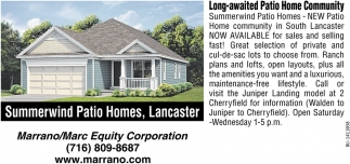 Summerwind Patio Homes, Lancaster, Marrano/Marc Equity Corp., Buffalo, NY