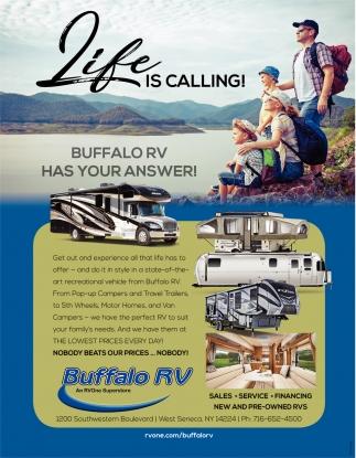Buffalo RV Has Your Answer!
