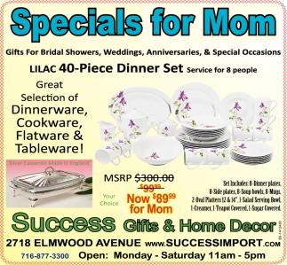Specials For Mom