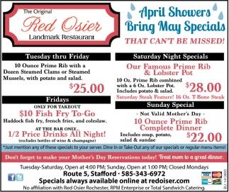 Bring May Specials