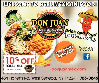 Welcome To Real Mexican Food!