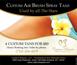 Custom Air Brush Spays Tans