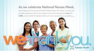 As We Celebrate National Nurses Week