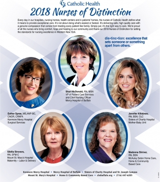 2018 Nurses Of Distinction