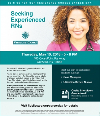Join Us For Our Registered Nurses Career Day!
