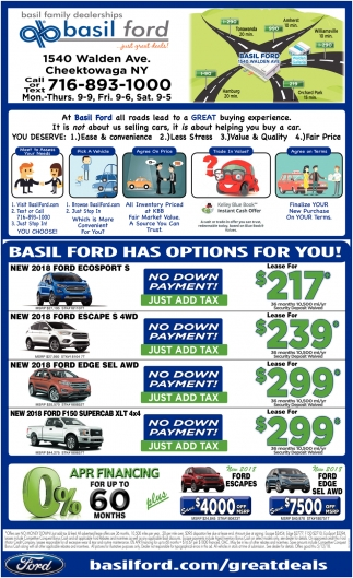 Basil Ford Has Options For You!