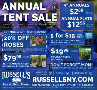 Annual Tent Sale