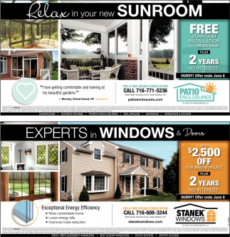Experts In Windows & Doors