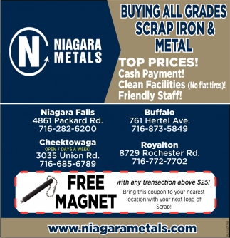 Buying All Grades Scrap Iron & Metal